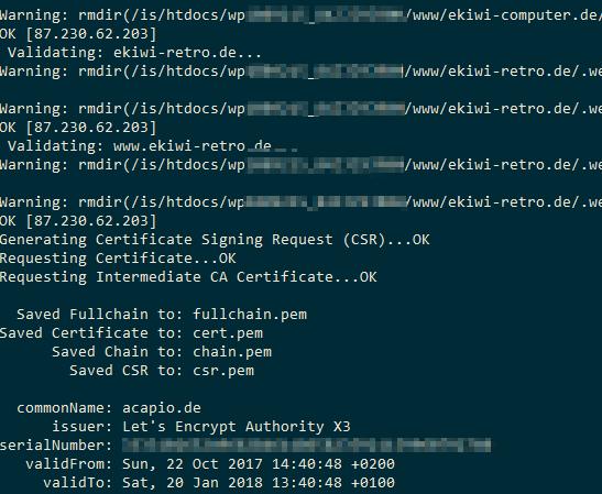 Hosteurope Ssl Zertifikate Von Letsencrypt Automatisch Verlängern
