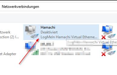 Hamachi Adapter Fehlt